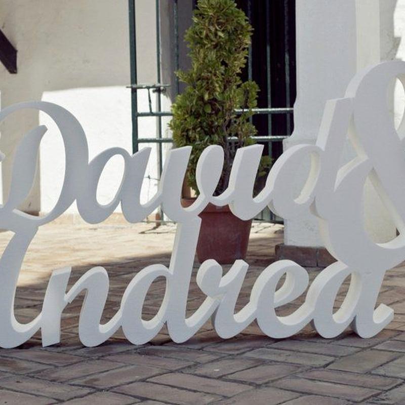Letras para bodas. Nombres completos