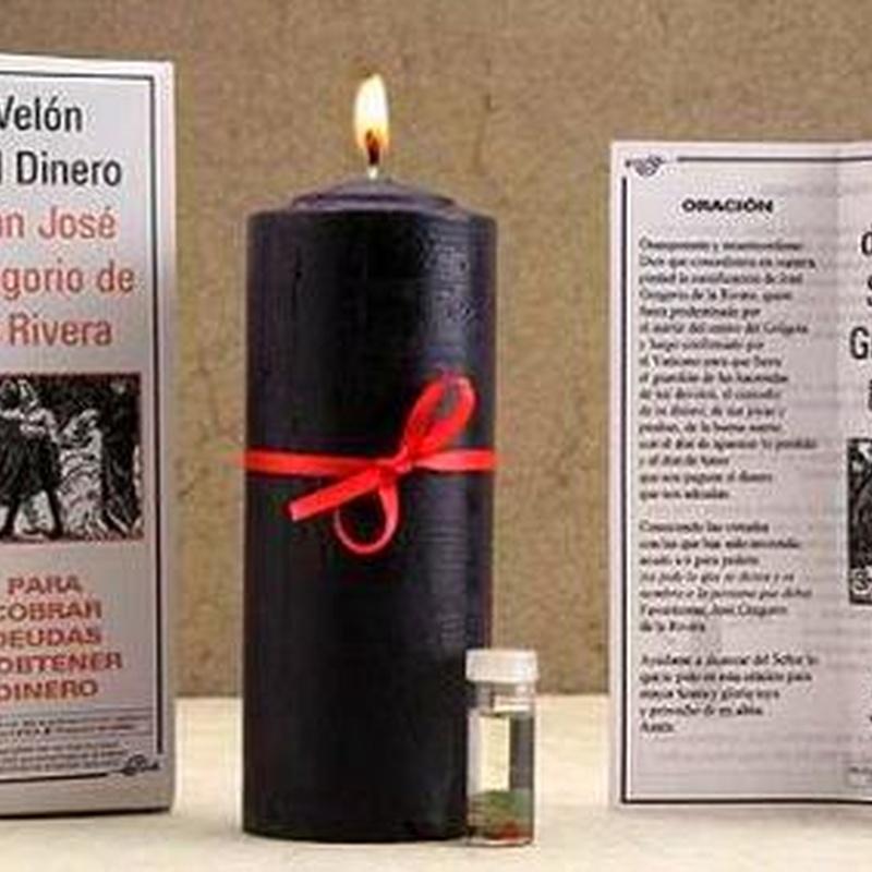 Velón Especial J. Gregorio Rivera: Cursos y productos de Racó Esoteric Font de mi Salut
