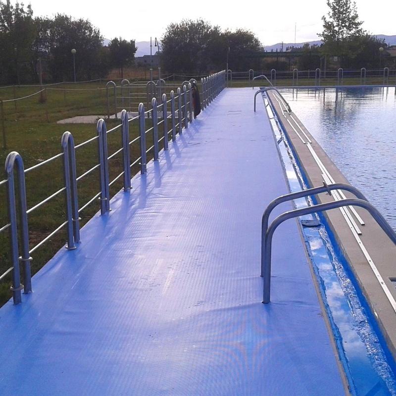 Pavimento antideslizante de lámina Lainer