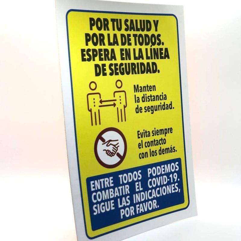 """Pancarta """"Distancia de seguridad"""" 20x29cm: Productos y servicios de Prieto Larrey"""
