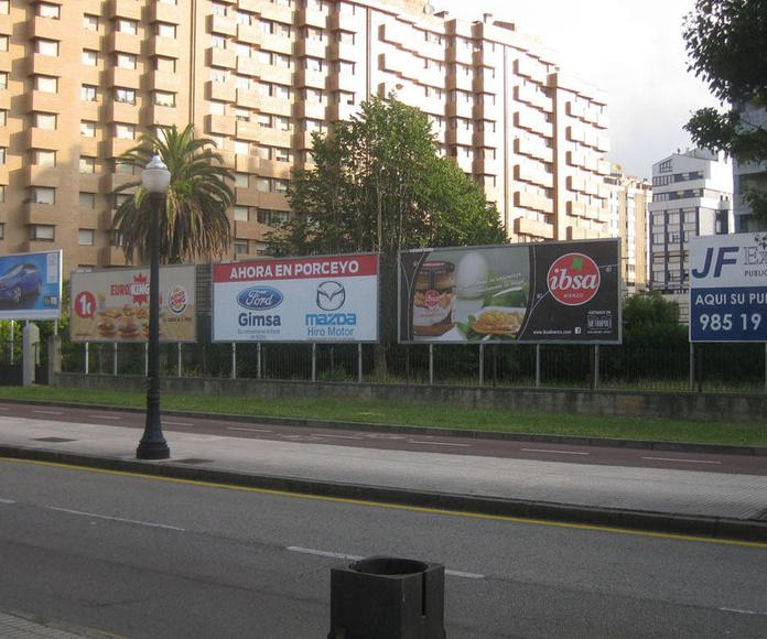 vallas publicitarias.-  Gijón