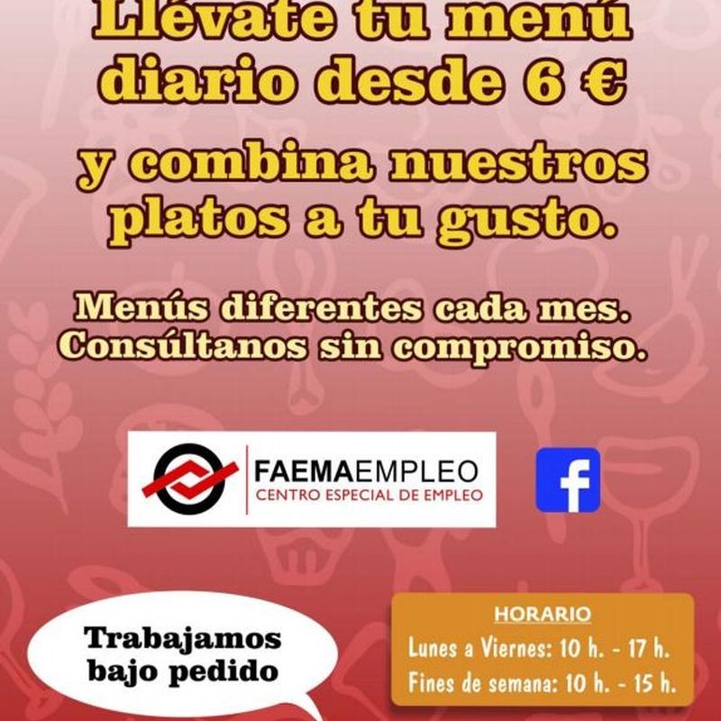 Menú Noviembre:  de Restaurante El Cobijo