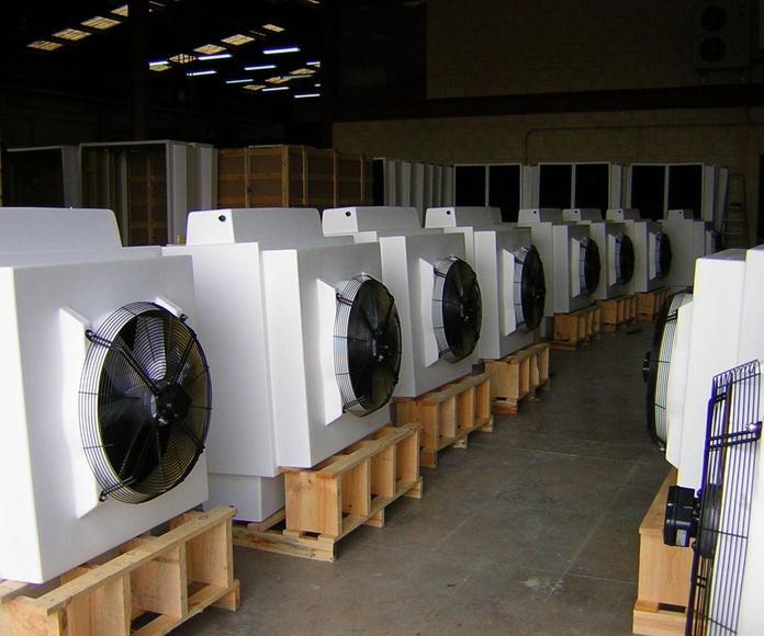 HUMIBAT modelo P10 en los almacenes de Control y Ventilación, S.L.