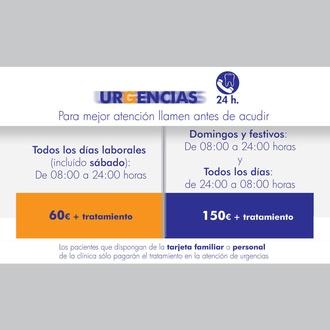 Urgencias 24 horas. Grupo Termon Moncloa Clínica Dental