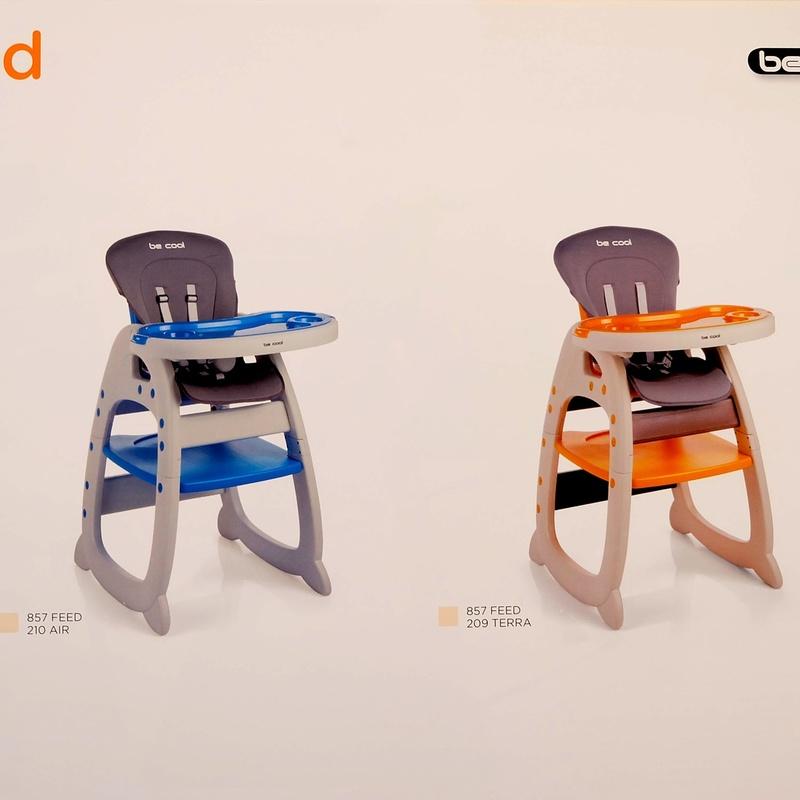 Trona de plastico convertible en mesa +silla