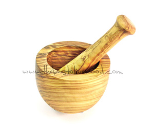 Mortero de madera de olivo