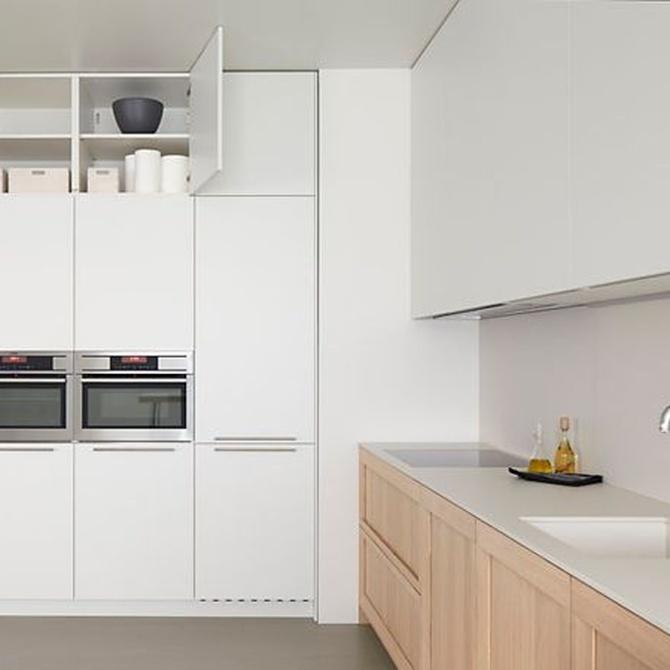 ¿Cuáles son los materiales demandados para las reformas de cocinas?