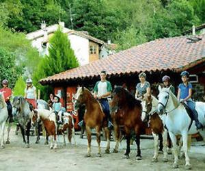 Paseos a caballo para grupos en plena naturaleza asturiana