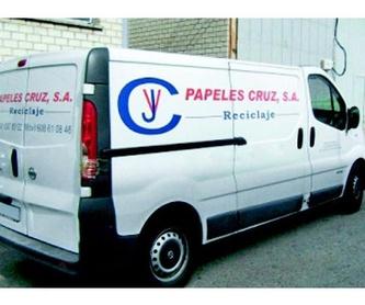Recuperación de papel y cartón: Servicios  de Papeles Cruz, S.A.