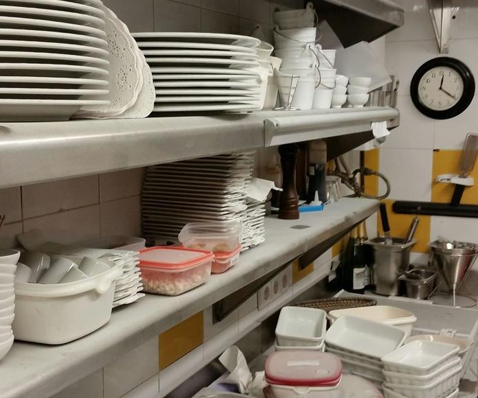 Limpieza por siniestro en una cocina profesional