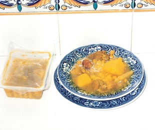 1 Cocido de Magra y Costillejas con Morcilla.