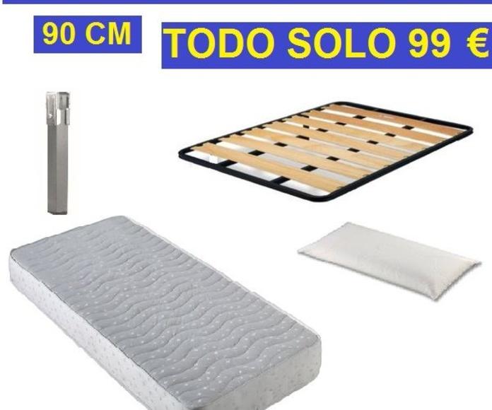 CONJUNTO DE CAMA DE 90 cm