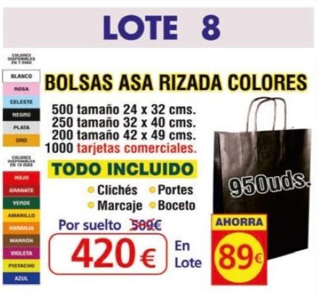 BOLSA ASA RIZADA COLORES 950 UNDS: TIENDA ON LINE de Seriprint Serigrafia