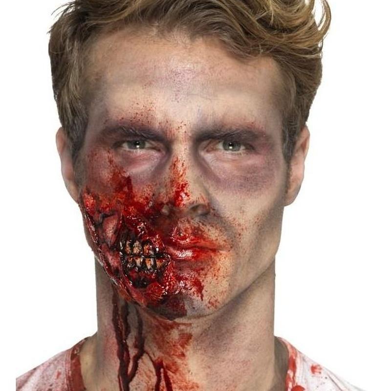 Maquillaje FX mandíbula zombie