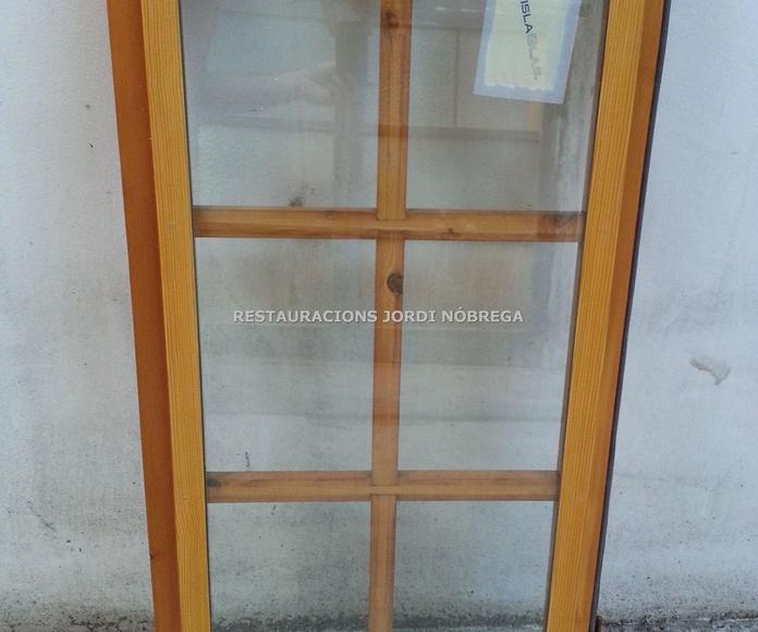 Restauración ventanas Maresme. Restauracions Jordi Nóbrega