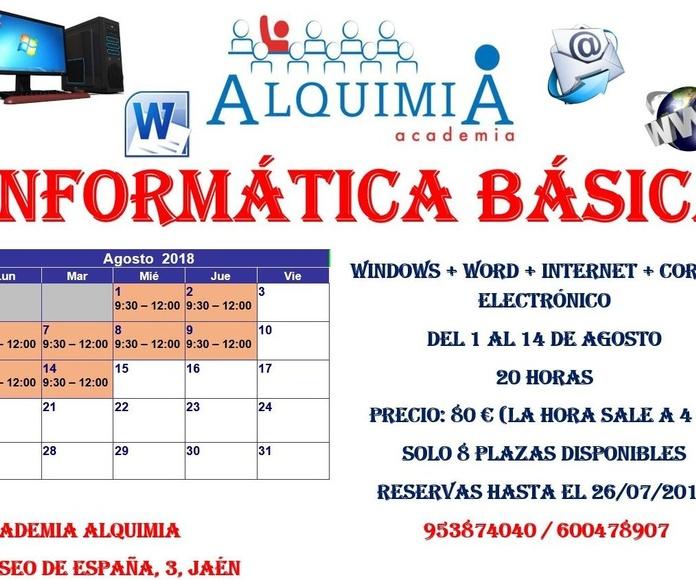 CURSO INFORMÁTICA BÁSICA: NUESTRA OFERTA FORMATIVA de Alquimia