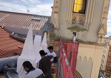 Rehabilitación de tejado en Santander. Iglesia de los Jesuitas