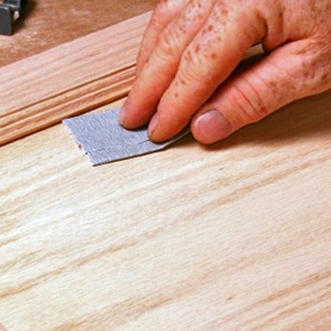 El lijado de la madera