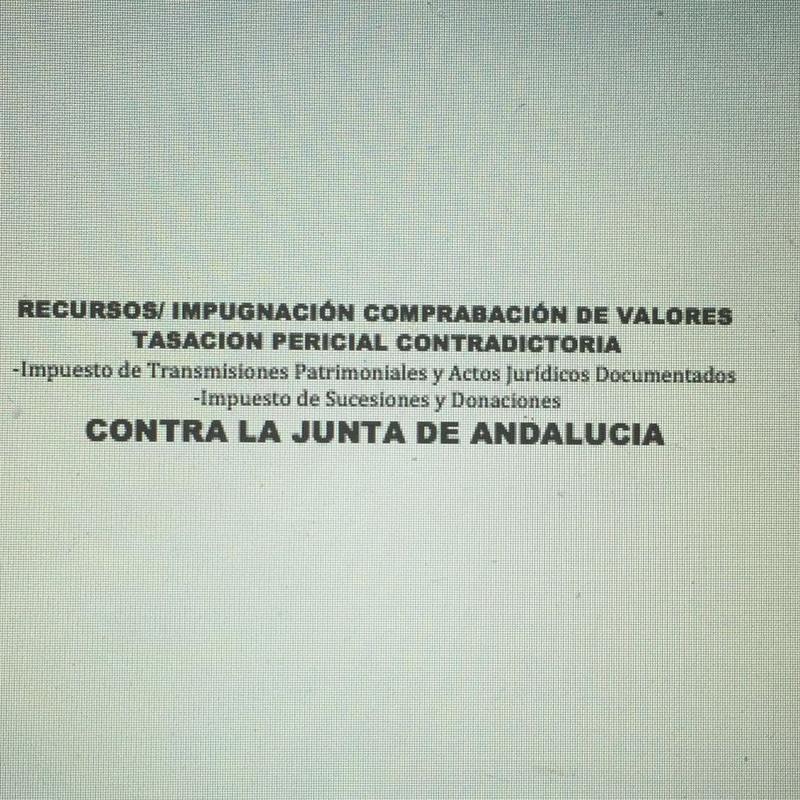 COMPROBACION DE VALORES - Transmisiones Patrimoniales,AJD, Sucesiones,Donac: Servicios de Abogados Pro Derecho- Lic. Alberto Martín Maldonado