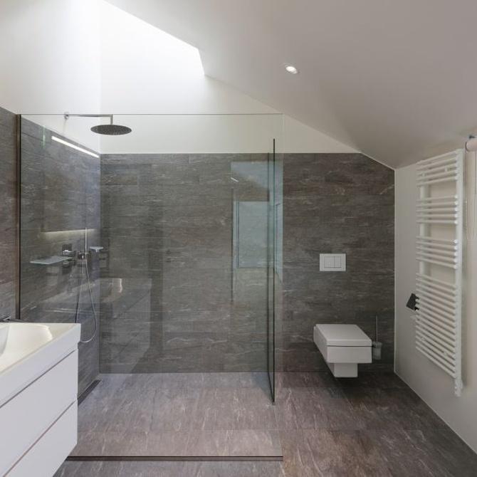 Las mamparas de baño aumentan la seguridad