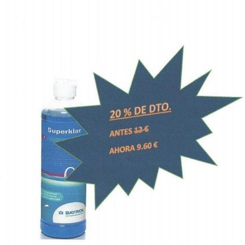 Superklar 0,50 L. Clarificador: Productos y servicios de Piscinas Castilla - Construcción y Rehabilitación