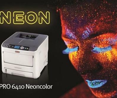 Nueva impresora A4 de tóner neón: OKI PRO6410 NeonColor