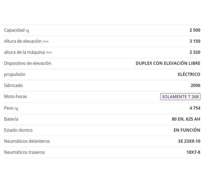 CARRETILLA ELEVADORA LINDE E25-02: CATÁLOGO de HP Elevación