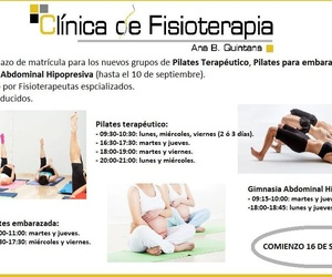 Clases de Pilates Terapéutico, Pilates embarazada y Gimnasia Abdominal Hipopresiva.