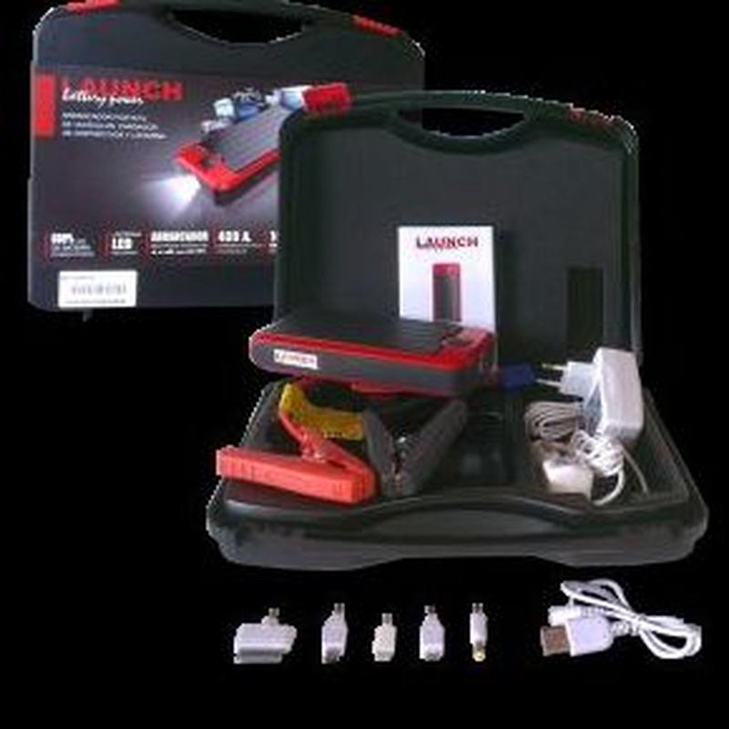 Maletín arrancador baterías LAUNCH con 2 tomas USB Cargador movil y tablet