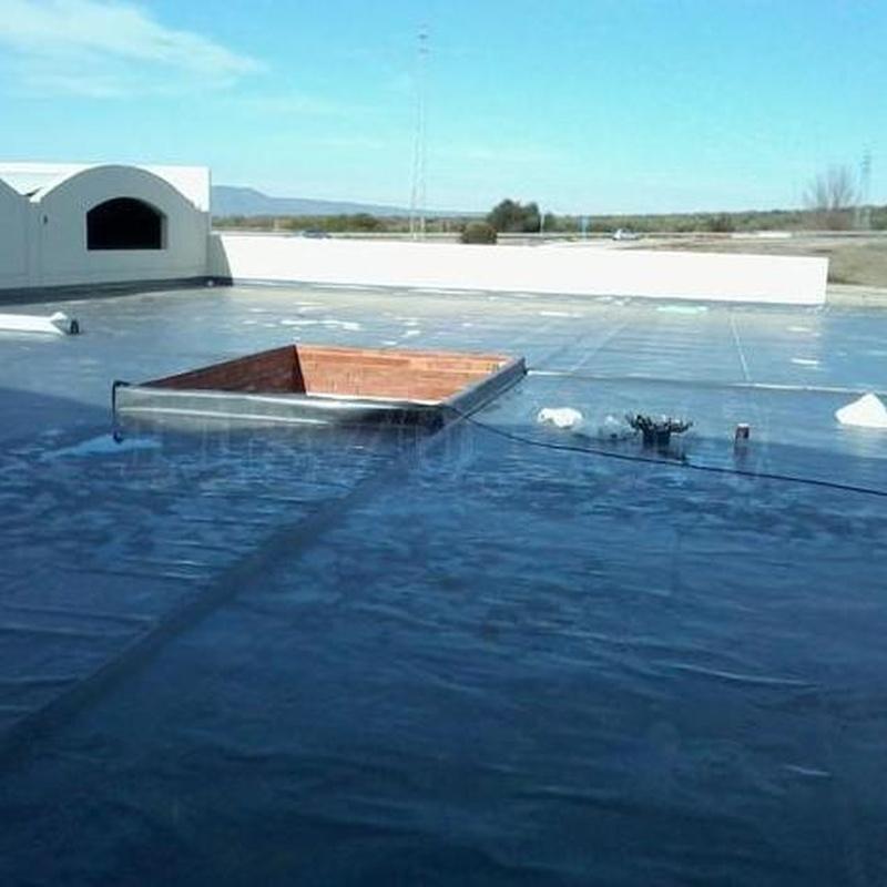 Impermeabilización con láminas PVC: Servicios de Impermeabilizaciones Manuel Núñez Montero