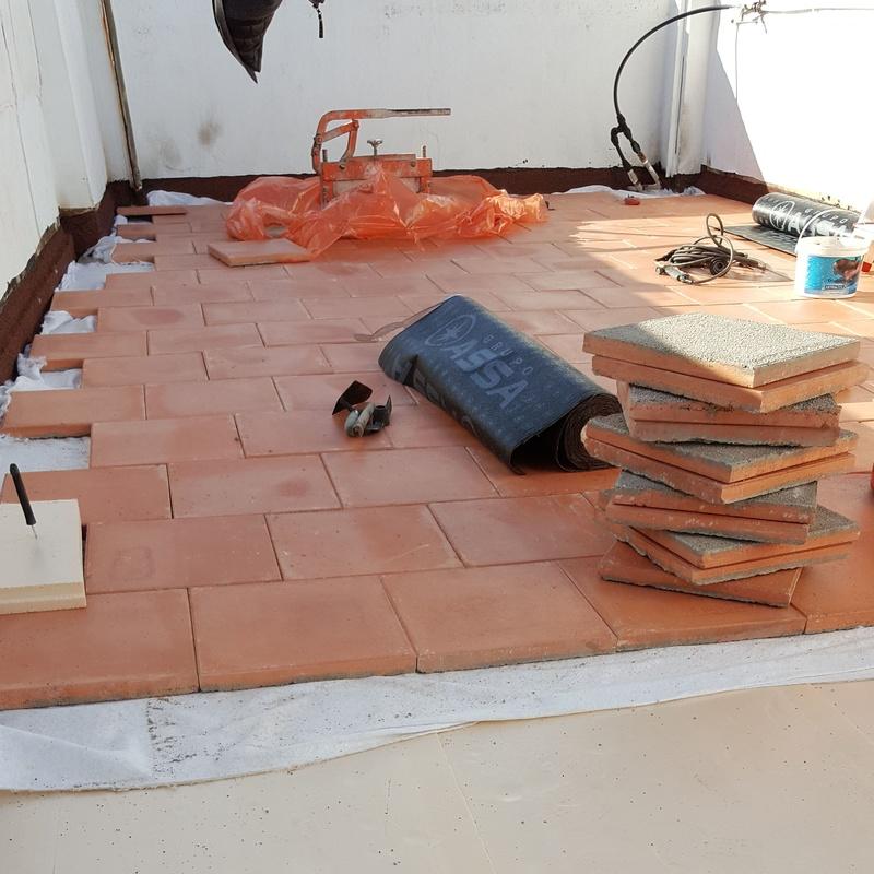 Impermeabilizacion y aislamiento de terraza transitable sin obras