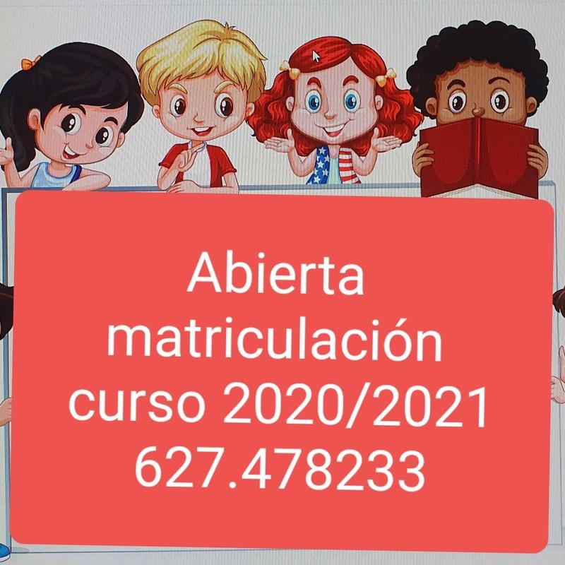 Abierta matriculación 2020 / 2021