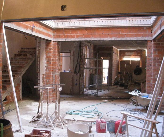 Fase constructiva de un patio interior, en una vivienda de nueva Planta