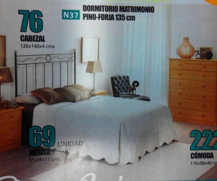 dormitorio pino-forja mod.37: Productos  de Muebles Llueca, S. L.