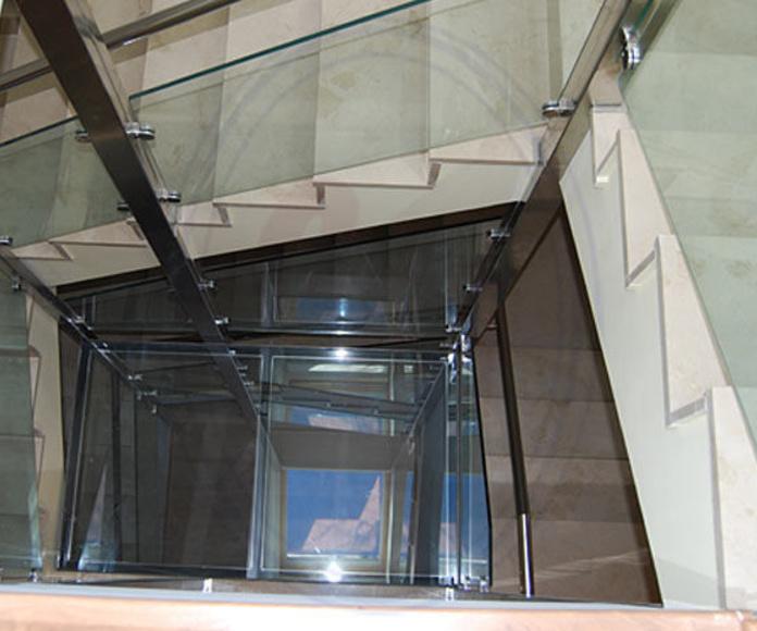 Barandillas y escaleras de cristal Madrid: Productos  de Cristalera Madrileña