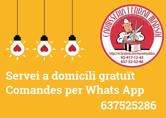 Servicio GRATUITO a domicilio: Productos de Carnicería Ferran Marsol