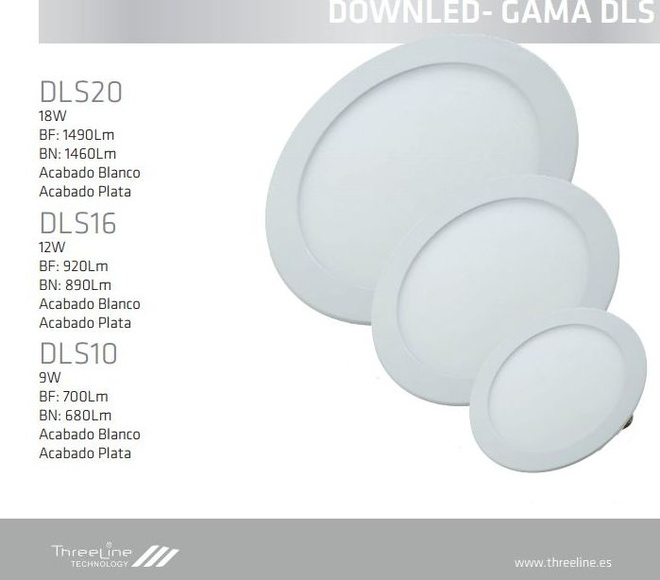 DOWNLIGHT GAMA DLS: Productos de Centro Led Almería