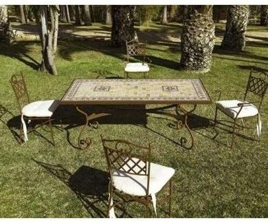 Muebles de terraza en forja Alicante