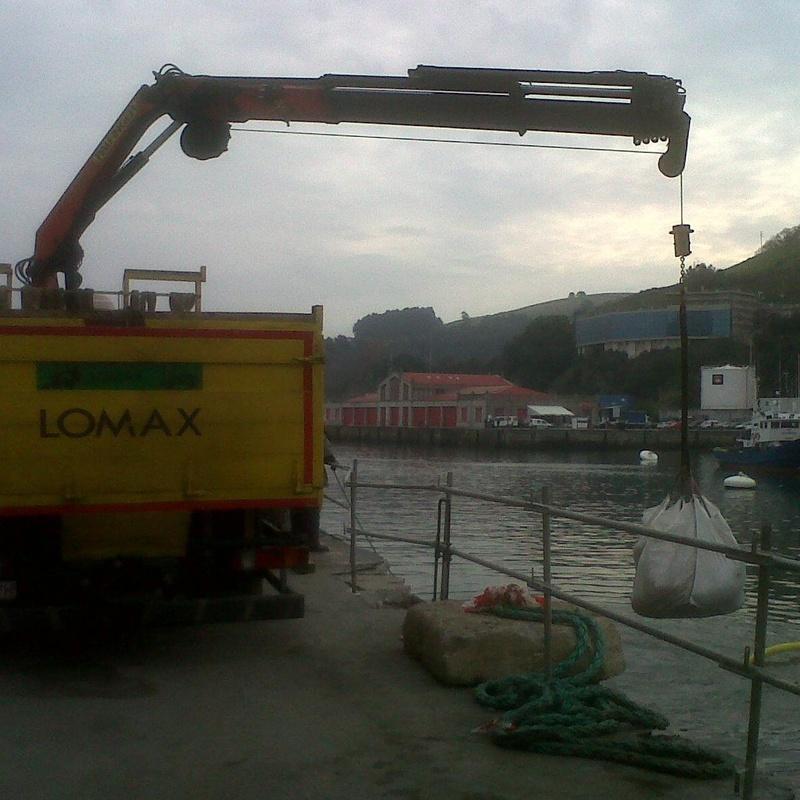Reparacion de puerto de Bermeo