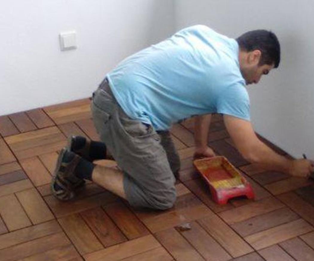 Preparación de los suelos para su lijado