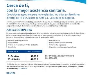 Seguro Salud Adeslas Exclusivo para clientes AMF