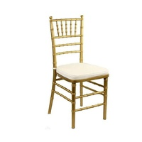 Alquiler de silla, Tiffany, Chiavari, color dorado.