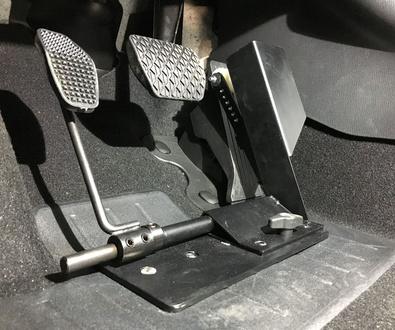 Inversor de pedal universal instalado por Cabal Automoción. Adaptación de vehículos en Asturias