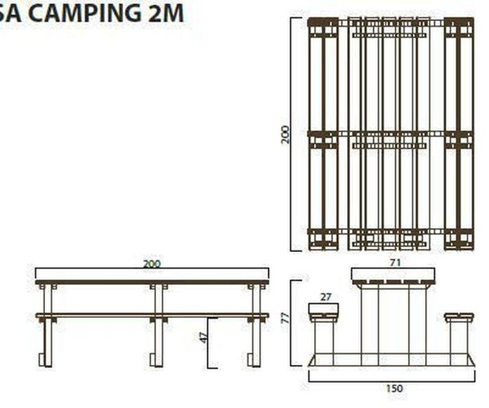Mesa camping 2m: ¿Qué podemos ofrecerte? de CM PLASTIK RECYCLING SL