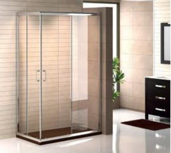 Mampara baño Niza rectangular lisa entrada vértice