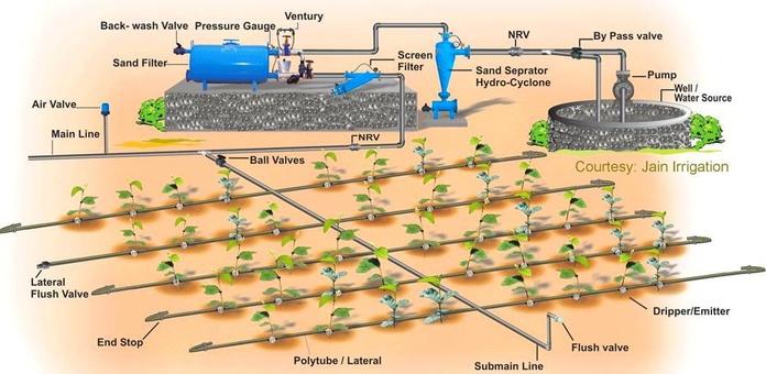 Instalaciones de todo tipo de goteo a cultivos