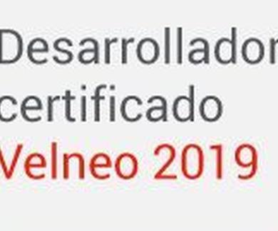 Desarrollador certificado Velneo 2019