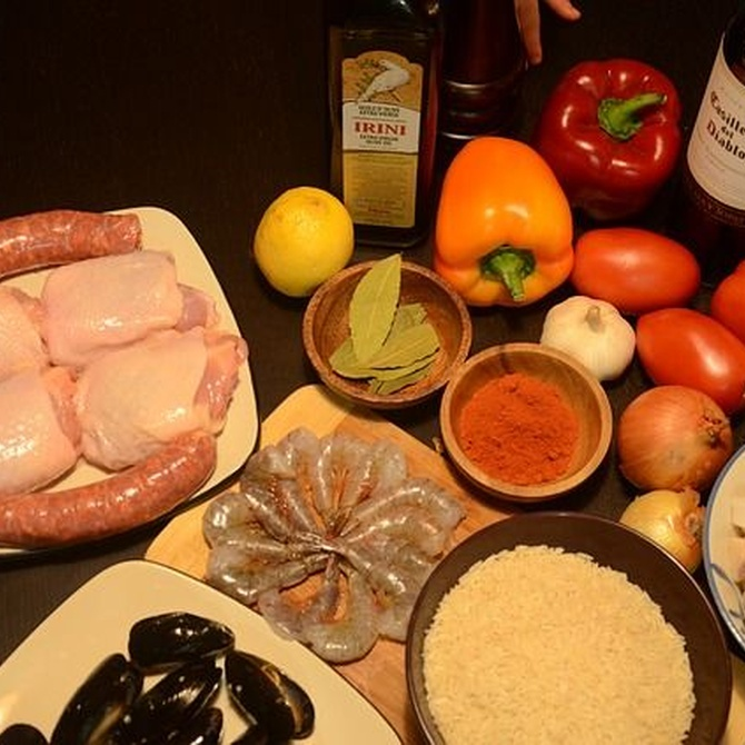¿Cuáles son los ingredientes de la paella?