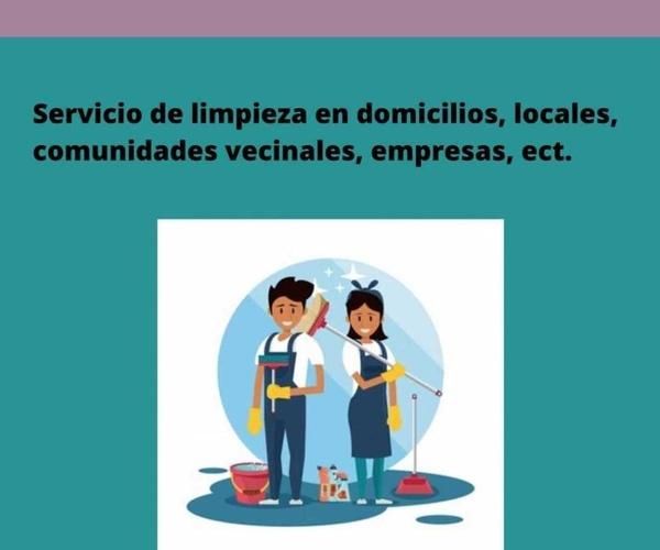 Servicio de ayuda a domicilio, limpieza de comunidades, oficinas, etc.