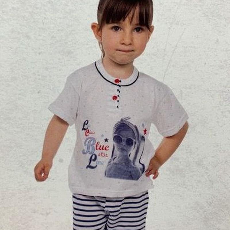 Pijama niña pantalón corto